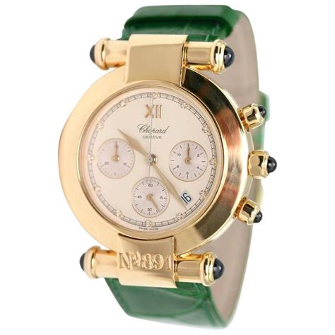 Chopard Number Leather White 1 chopard yellow gold imperiale chronograph wristwatch at
