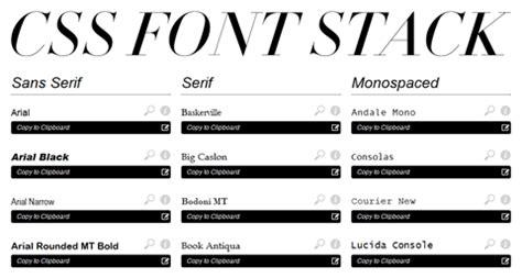 font design using css une liste compl 232 te de police de caract 232 re web css font