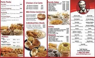 kfc printable menu best business template
