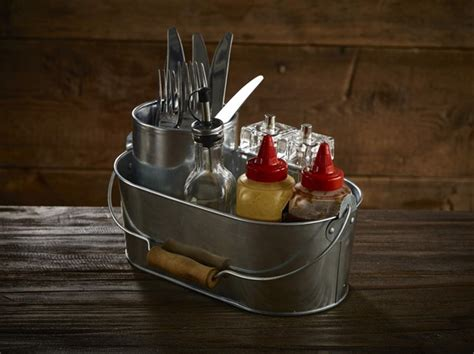 condiment caddy for tables oval galvanised table caddy wholesale table caddy
