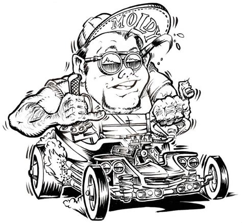 Rat Fink Colouring Pages Hot Rod Coloring Pinterest Rat Rod Coloring In