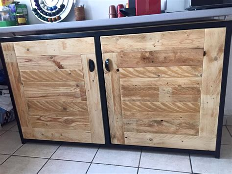 How To Build Rustic Kitchen Cabinets - pallet wood sideboard kitchen cabinets 101 pallets