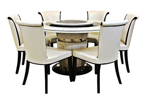 Unique Executive Desks Sr Hs 1819 Marble Top 6 Seater Dining Set Furniture Online