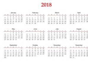 2018 12 Month Calendar Printable Calendar 2018 Templates Printable Calendar