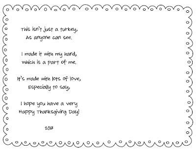 printable turkey poem handprint thanksgiving quotes quotesgram