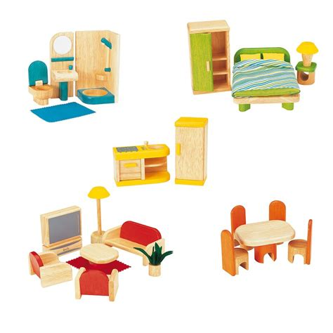 dolls house furniture uk large wooden home with furniture set multi level wooden