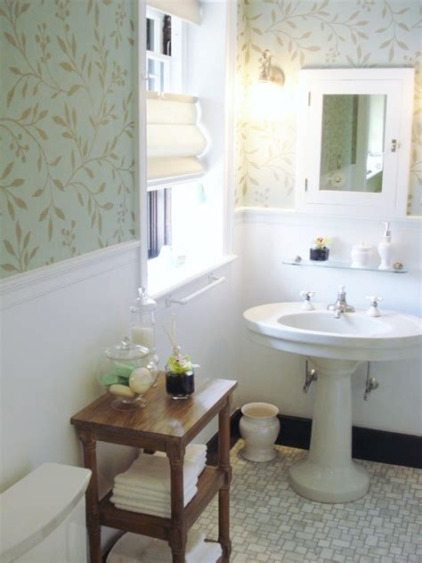 Small Bathroom Wallpaper Ideas by Wallpaper In Bathrooms