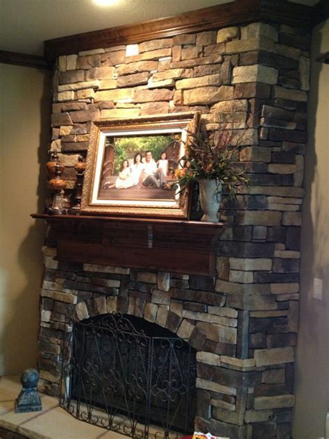 Faux stone fireplace   Eclectic   Dallas   by Gigi's