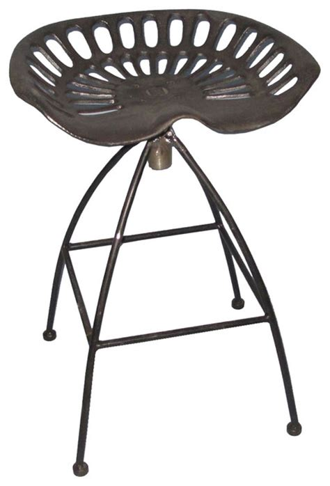 Industrial Style Adjustable Bar Stools by Industrial Style Adjustable Tractor Seat Stool Black