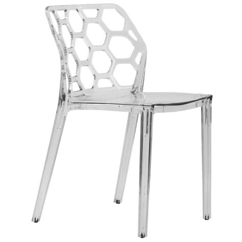 clear plastic dining chairs dynamic modern acrylic dining chair in clear ebay