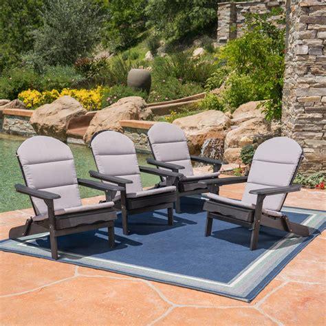 noble house malibu gray outdoor adirondack chair cushion