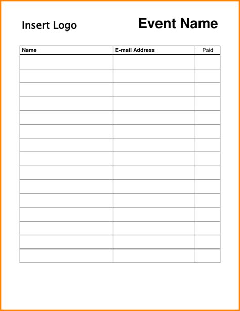 Blank Sign Template by Blank Sign Up Sheet Sles Vlashed