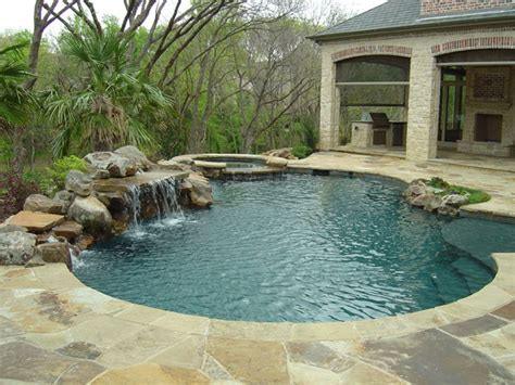 rock waterfalls for pools nice little pool with rock waterfall awesome inground