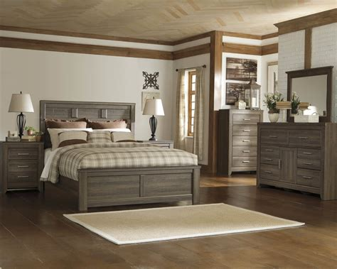 king post bedroom set juarano ashley bedroom set bedroom furniture sets