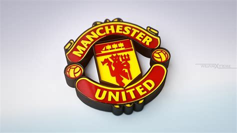Manchester United Custom Logo 3 manchester united 3d logo hd sports 4k wallpapers