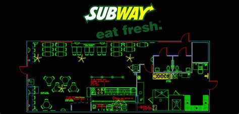 layout of subway restaurant subway restaurant