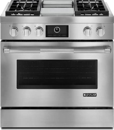 jenn air kitchen appliances jdrp536wp jenn air 36 quot touch screen dual fuel range w