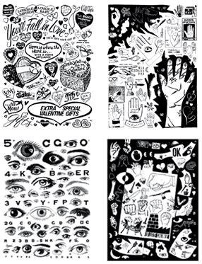 tattoo flash zine hweblog