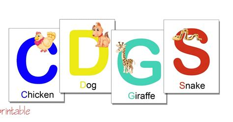 Diy Alphabet Flash Card Template by Printables Alphabet Flash Cards With Animals Printable Pdf
