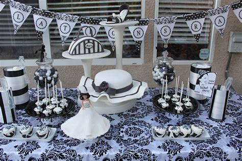 black and white bridal shower ideas san diego style weddings tabletop inspiration black white chic