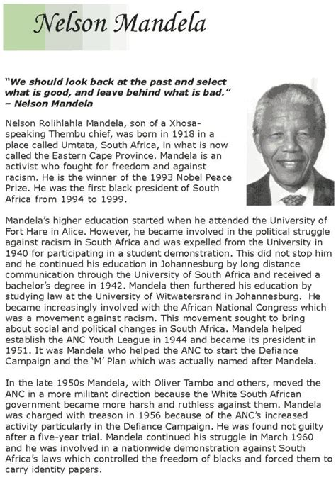 biography of nelson mandela in short the 25 best nelson mandela short biography ideas on