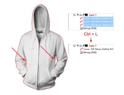 tutorial membuat desain jaket dengan corel draw x5 tutorial membuat mockup realistic menggunakan coreldraw