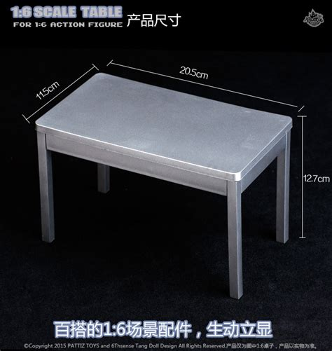 1 6 Scale Furniture by 1 6 Scale Furniture Table Desk Chair For 12 Inch