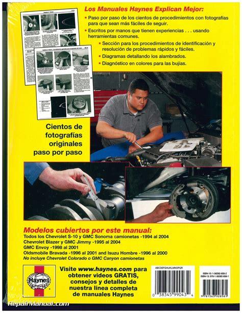 chevy s 10 gmc sonoma pick ups 1994 2004 repair manual espanol spanish h99043 ebay chevy s 10 gmc sonoma pick ups 1994 2004 repair manual espanol spanish