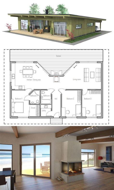 home design lover facebook small house plan with three bedrooms love the porch