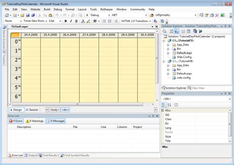 design calendar in vb net calendar tutorial database event moving asp net c