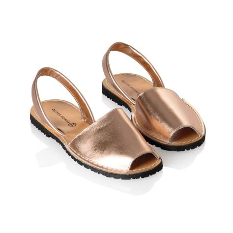 gold leather sandals menorquina style gold leather sandals oliver bonas