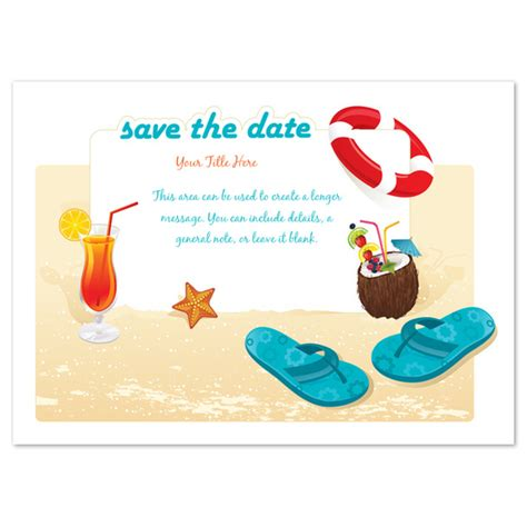 beach party save the date invitations cards on pingg com