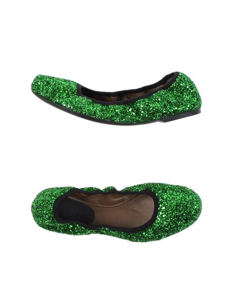 green shoes flats marni green ballet flats lyst