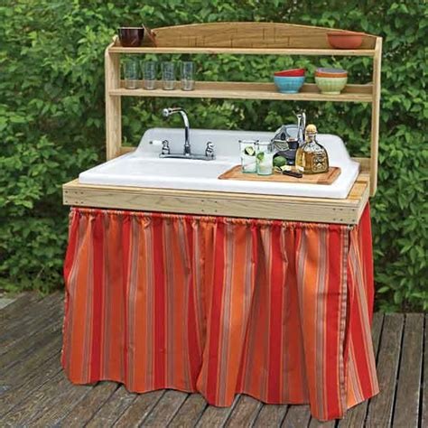 outdoor sink ideas outdoor bar made from a salvaged sink 23 of our best