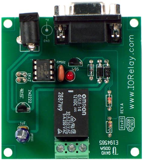 A R Relay Spdt 1 Channel 12v Jrc 21f 250vac 30vdc 3a rs 232 1 channel spdt relay controller with serial