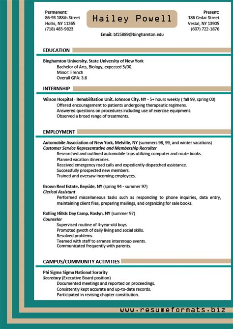 resume about me exles resume template 2017