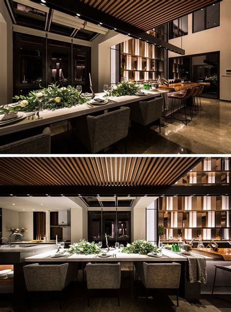 extra long kitchen island design detail this extra long kitchen island is used as