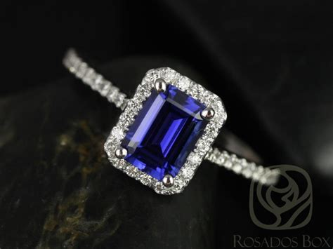 rosados box lisette 7x5mm white gold rectangle emerald cut