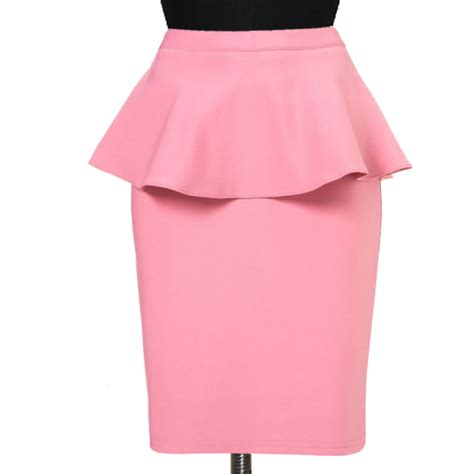 plus size guava peplum pencil skirt elizabeth s custom