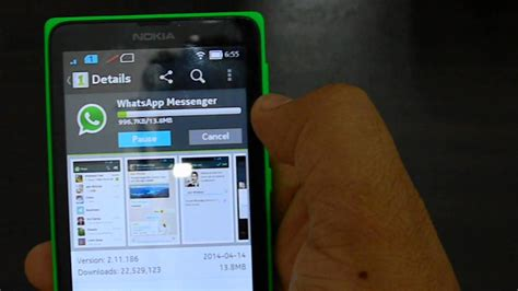 whatsapp tutorial nokia how to install whatsapp on the nokia x android phone youtube