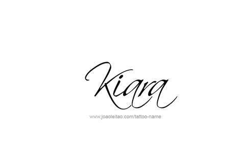 kiara name tattoo designs
