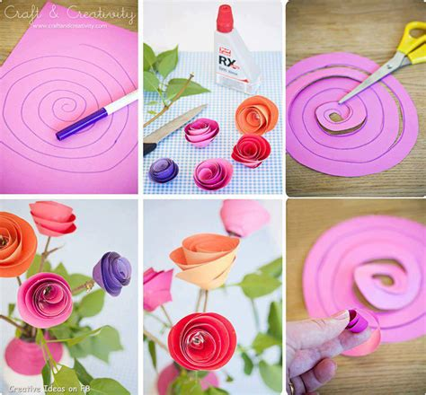 Roses With Paper - diy paper spiral and decoration