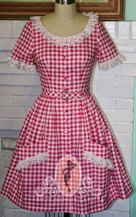 Dress Pink Xl Dress Jumbo Dress Xl Murah Dress Pink Xl Murah brigitte s 50s pinup sundress pink white jumbo gingham dress skirt custom made