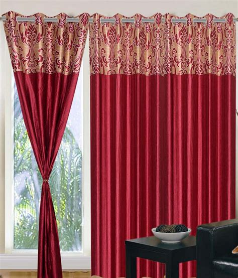 9 feet long curtains home sazz maroon valance set of 2 fancy long door curtains