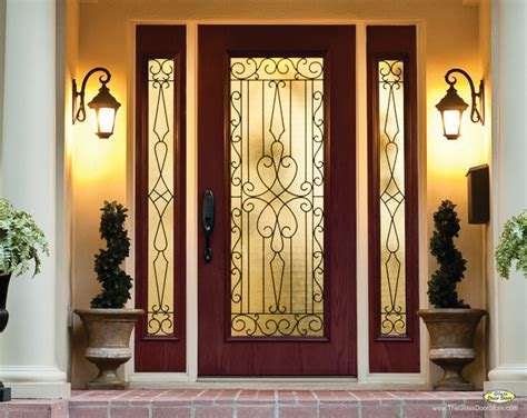 Wrought Iron And Glass Doors Wrought Iron Glass Front Entry Doors Mediterranean Entry Ta By The Glass Door Store