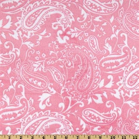 Hobby Lobby Home Decor Fabric by Minky Cuddle Paisley Pink Discount Designer Fabric
