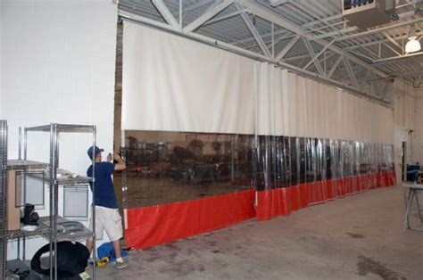 goff industrial curtains industrial curtains vinyl partitioning systems pvc