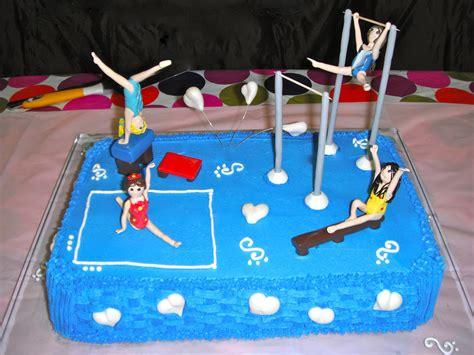 p y how to make a gymnastics cake