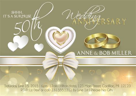 50th Wedding Invitation Cards by Anniversary Invitations 50 Wedding Anniversary