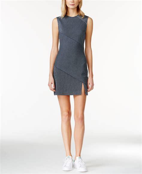 S Oliver Dress Mini Dress Stripe Dress lyst roy striped paneled mini sheath dress in blue